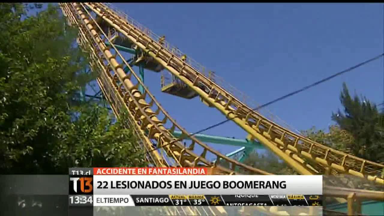 T13 Tarde Violenta Falla En Boomerang De Fantasilandia Termina Con