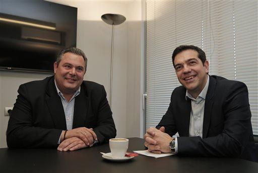 Panos Kammenos y Alexis Tsipras, líderes de ambas colectividades.