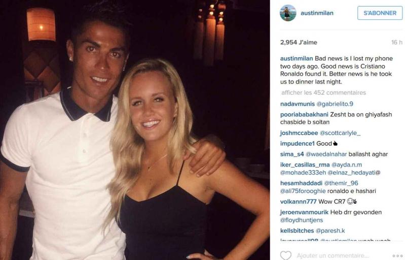Cristiano Ronaldo encuentra teléfono