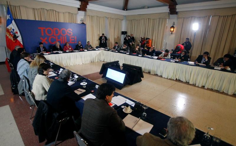 Bachelet en consejo de gabinete