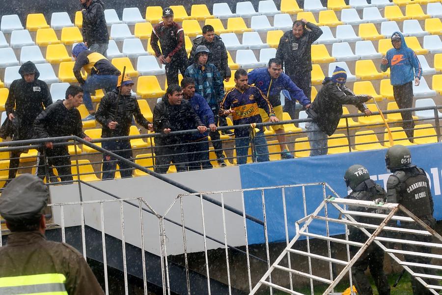 Suspenden tres partidos de Copa Chile tras incidentes en Talca