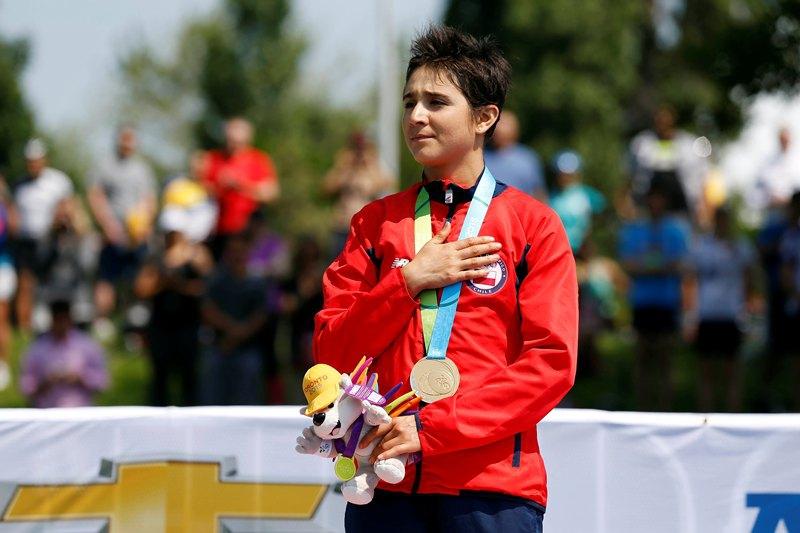 Imágenes de la triatlón en los Juegos Panamericanos Toronto 2015