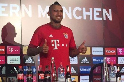 """Vidal habló tras firmar con el Bayern: """"Quiero dar lo mejor de mí y ganar títulos"""""""