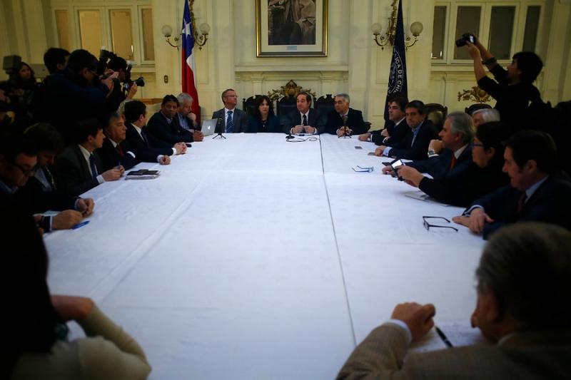 Oposición realiza cita de trabajo en el ex Congreso