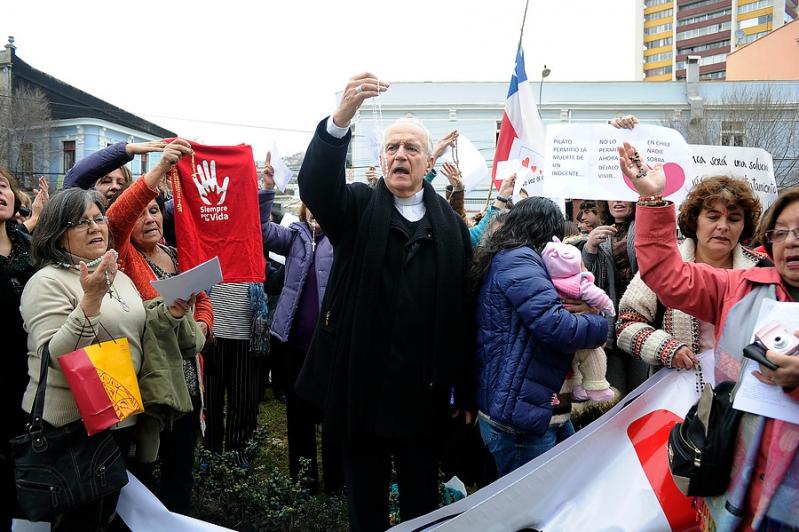 Manifestaciones en contra del proyecto de aborto