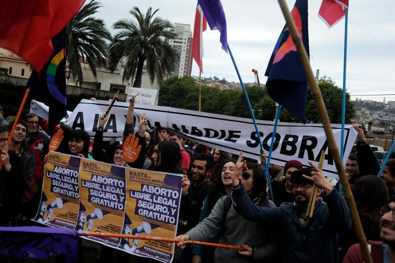 Manifestaciones a favor del proyecto de aborto