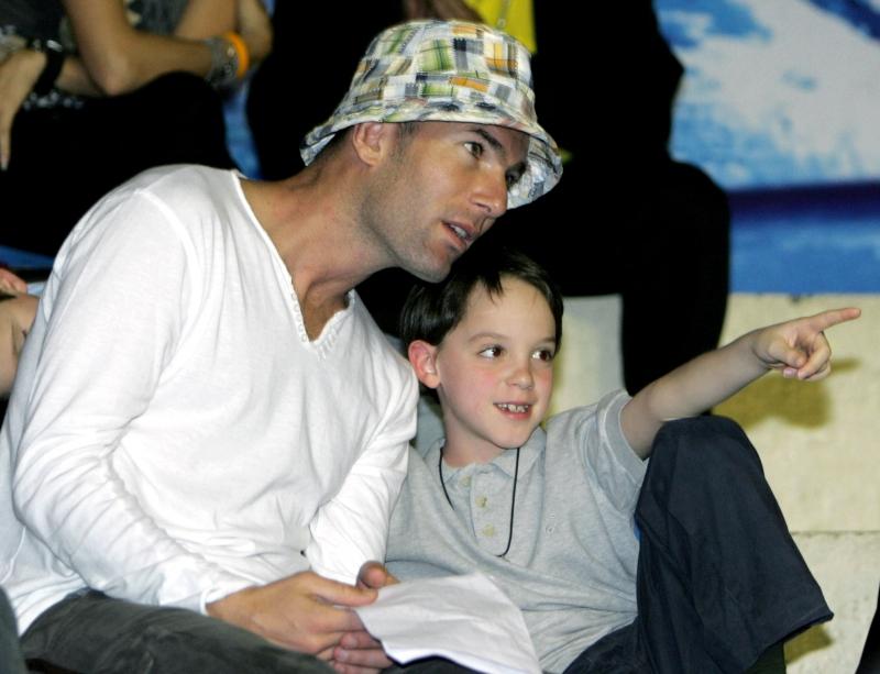 Zinedine y Luca Zidane juntos en 2007