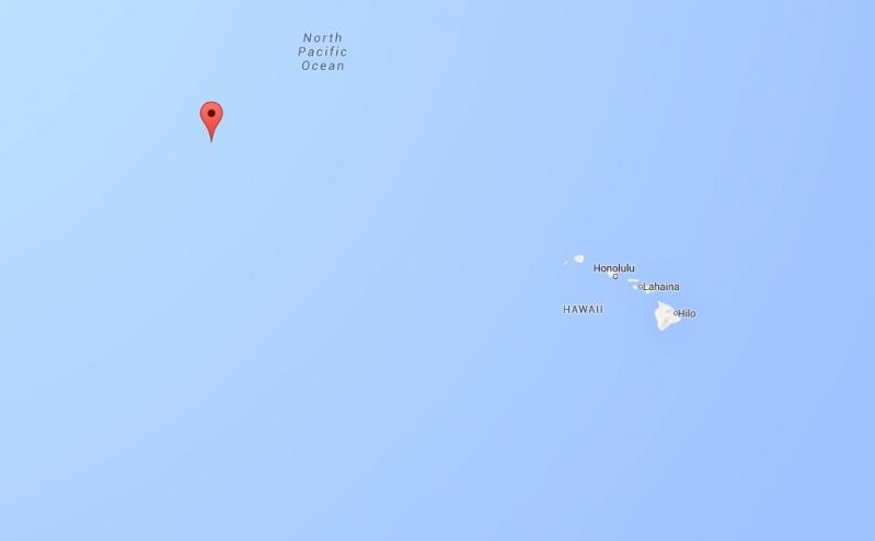 Este es el punto donde se encuentra el barco Okeanos Explorer