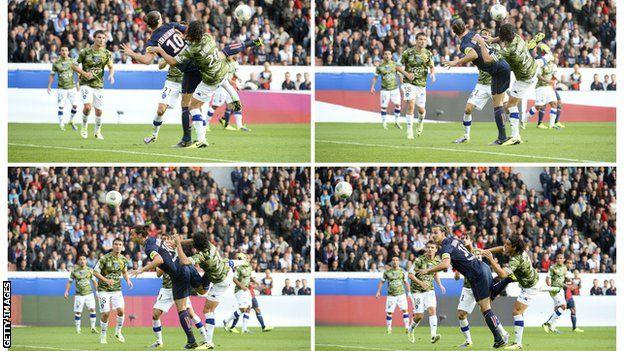 El sueco Zlatan Ibrahimovic se caracteriza por anotar goles espectaculares.