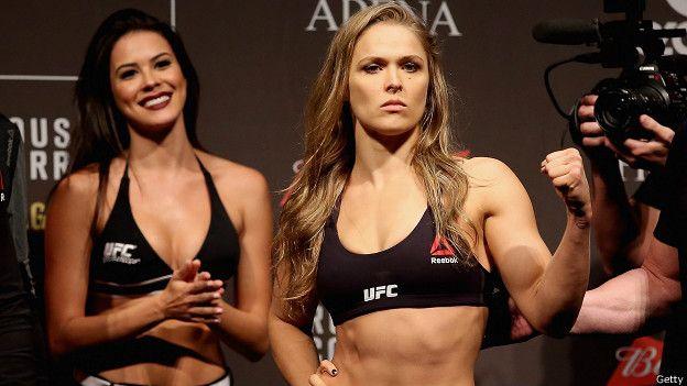 Además de ser la campeona indiscutible de UFC, Rousey tuvo un pasado exitoso como judoca y es actriz y modelo.