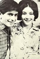 Luis Vilches junto a Sonia Viveros en la primera teleserie de la TV chilena