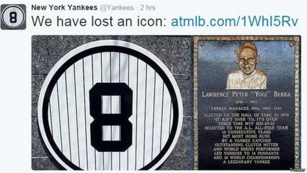 Berra ganó 10 Series Mundiales con los Yankees entre 1946 y 1963.