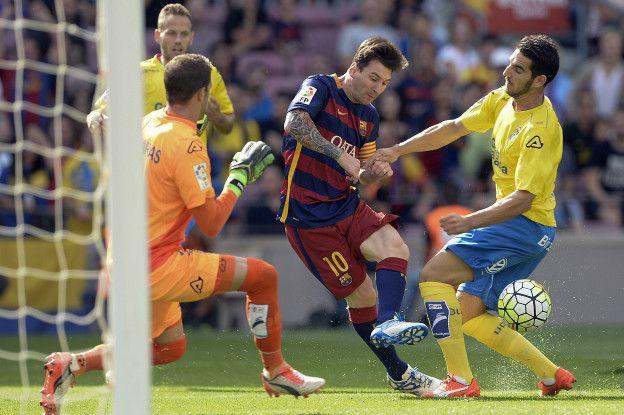 La lesión de Messi se produjo en un choque fortuito en el minuto tres de partido frente a Las Palmas.