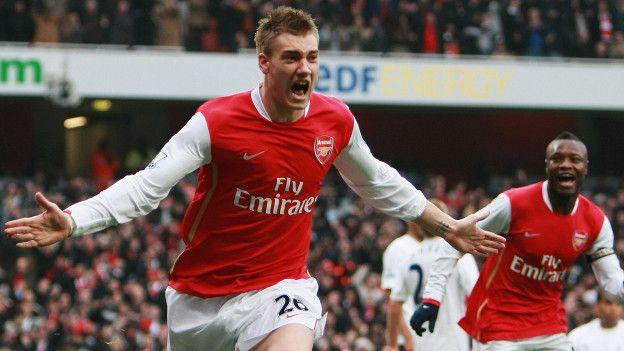 Bendtner ha anotado menos de cinco goles en los últimos tres años, pero en 2007 necesitó de sólo seis segundos.