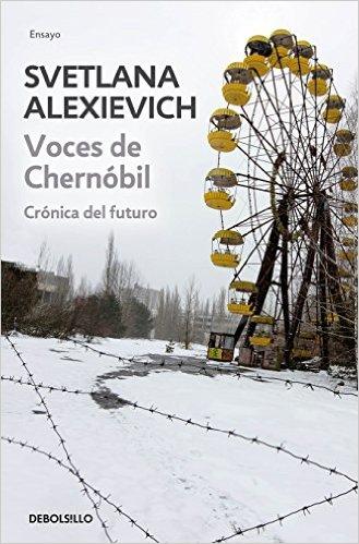 La portada de otra edición en español de Voces de Chernóbil