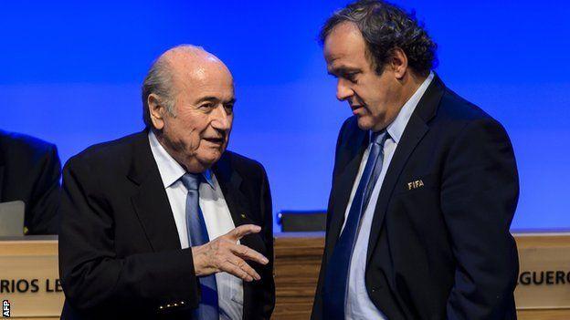 Platini y Blatter estuvieron en una tiempo del mismo lado.