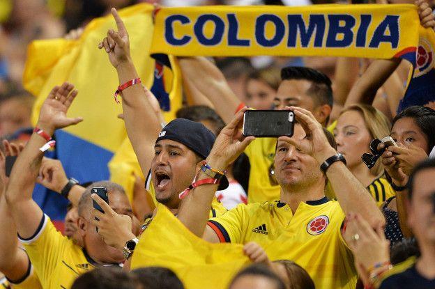 La afición colombiana se contagió con el buen fútbol que ofrece su seleccionado.