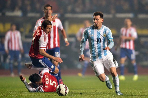 """Paraguay sufrió la calidad de Lionel Messi, pero """"La Pulga"""" argentina no estará sobre la cancha en Asunción."""
