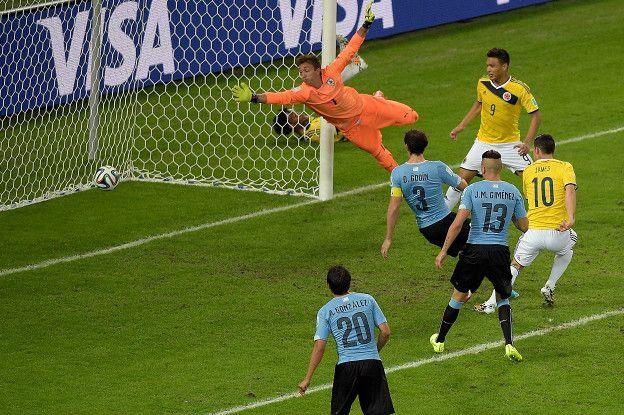 Uruguay, que no contó con Luis Suárez, no pudo parar a James Rodríguez durante el Mundial, pero el 10 colombiano no estará en Montevideo.