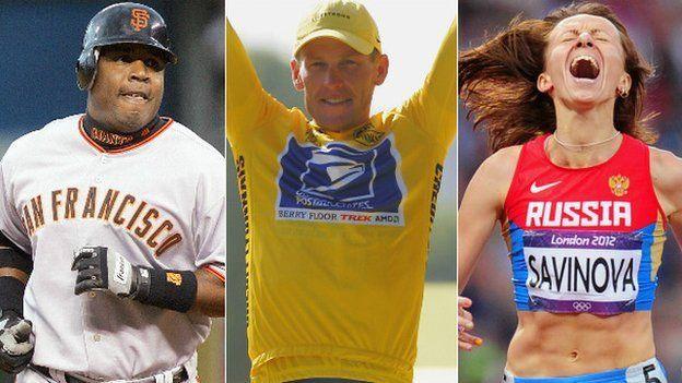 Barry Bonds, Lance Armstrong y Mariya Savinova, tres nombres relacionados al dopaje.