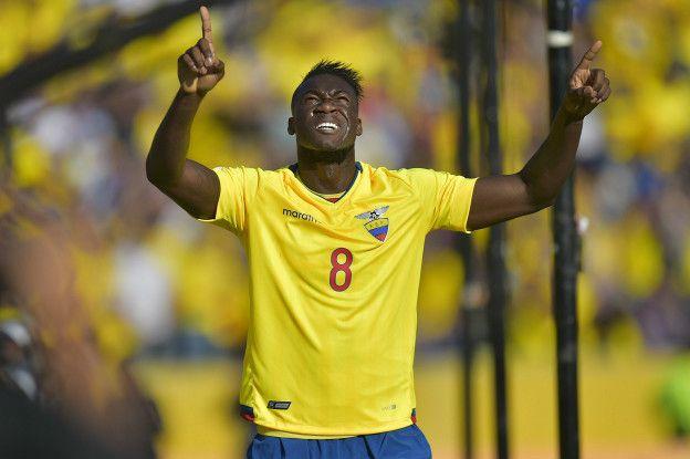 Felipe Caicedo es el quinto máximo goleador de la historia de Ecuador con 18 tantos.