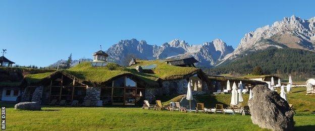 El lujoso centro de entrenamiento de Klitschko en Going, en Los Alpes.