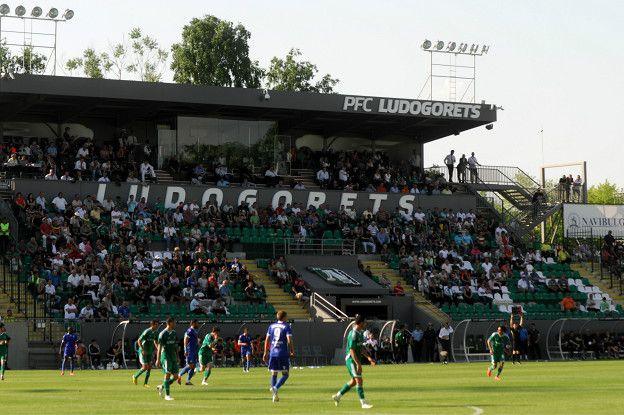 El modesto campo del Ludogorets, el campeón de la liga de Bulgaria en las últimas cuatro temporadas.