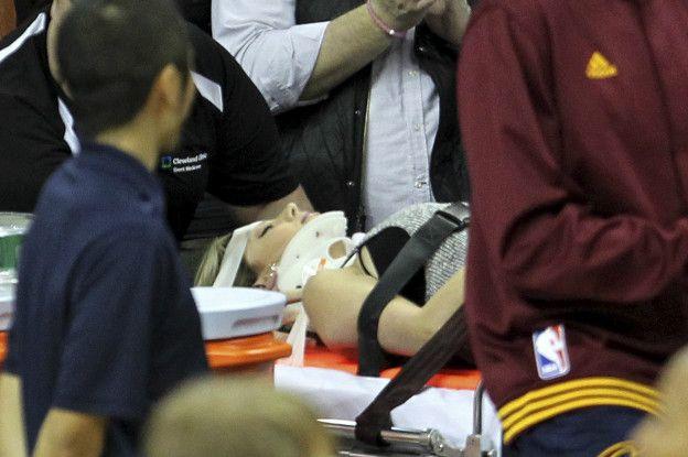 En el hospital se descartó alguna lesión de gravedad y Day fue dada de alta.