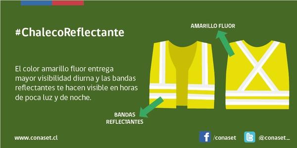 Las características que debe cumplir el chaleco reflectante de uso obligatorio para automovilistas