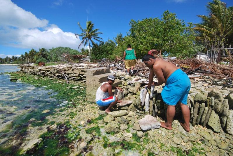 La población de isla Navidad vive del turismo y la pesca.