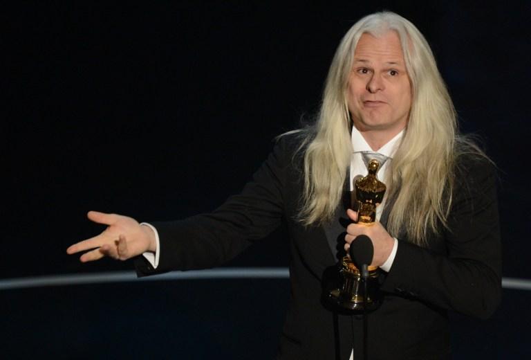Claudio Miranda recibiendo su Premio Oscar en 2013