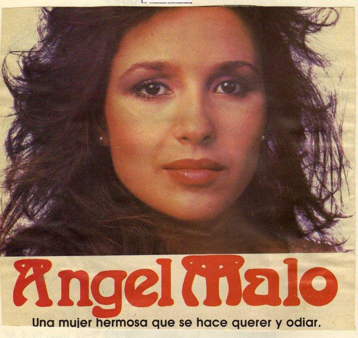 """Uno de los afiches de """"Ángel malo"""""""