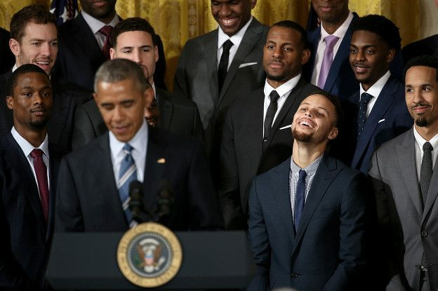 El presidente de Estados Unidos, Barack Obama, recibió a los Warriors de Golden State en la Casa Blanca.
