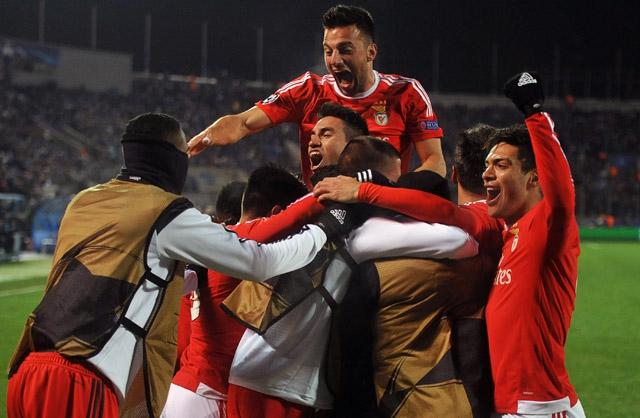 Benfica se instala en los cuartos de final de la Champions League