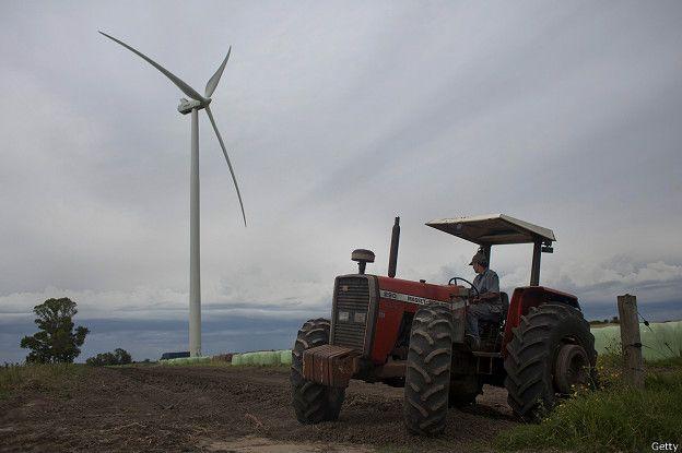 Mientras que Uruguay ha sabido capitalizar la fuerza del viento
