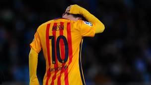 La mala racha de Messi coincide con el peor momento del Barcelona en la temporada.
