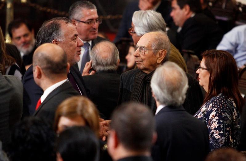 Carlos Altamirano en la ceremonia