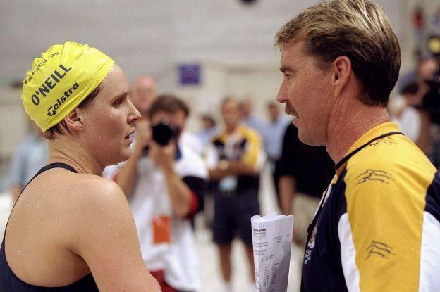 Volkers junto a Susie O´Neill en 1999.