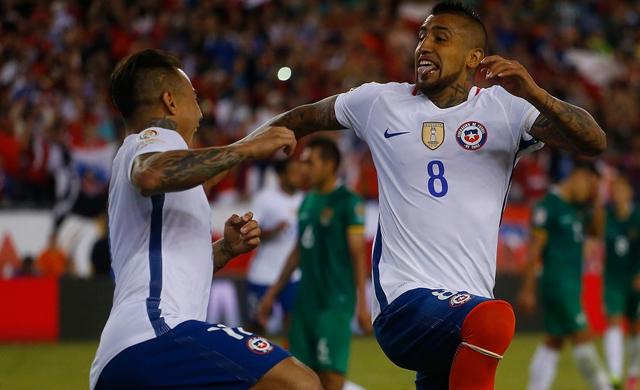 Chile vence agónicamente a Bolivia y mantiene sus opciones en la Copa Centenario