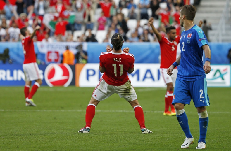Con victoria ante Eslovaquia Bale lidera a Gales al primer triunfo en Eurocopa