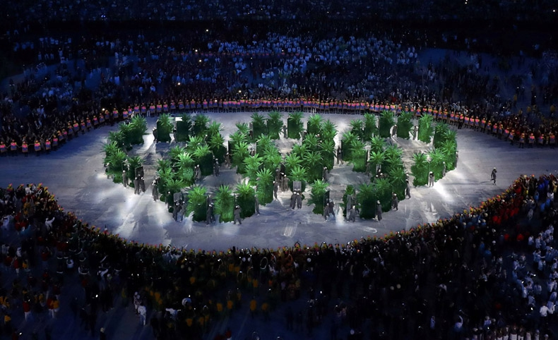 Música, arte y mucho ecologismo tiñen ceremonia de inauguración de Río 2016