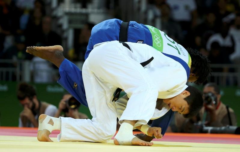 Misenga disputó su primer combate y venció al judoca indio Avtar Singh.