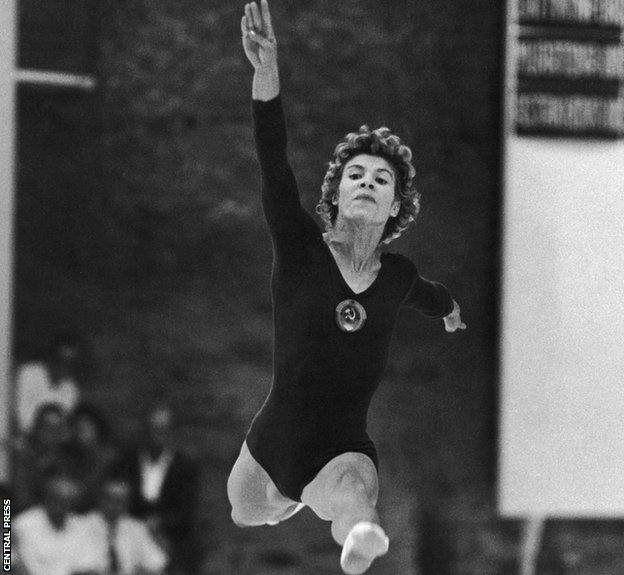 Larisa Latynina ganó nueve medallas de oro.