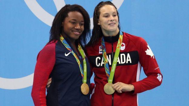 La canadiense Penny Oleksiak es campeona olímpica con sólo 16 años.