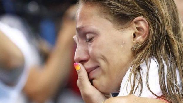 Yulia Efimova recibió abucheos del público que asistió a la final de natación femenina en la categoría de 100 metros pecho.