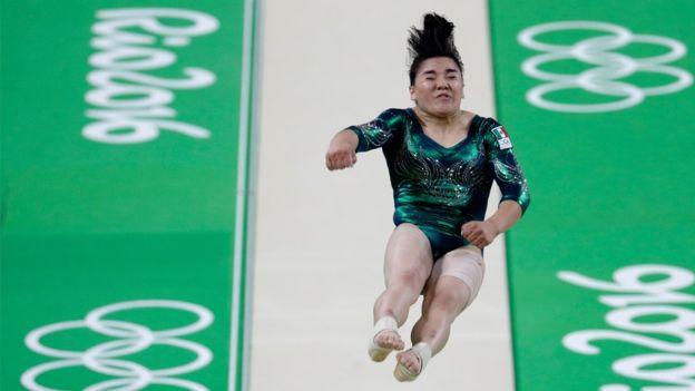 Moreno quedó en el décimo segundo lugar en la categoría de salto en la clasificación general de gimnasia artística.