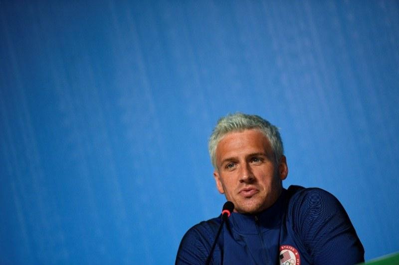 El nadador estadounidense Ryan Lochte durante conferencias de prensa previas a sus pruebas.