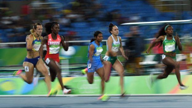 Chand participó en la primera ronda de la prueba de 100 metros planos en las Olimpiadas de Río 2016.