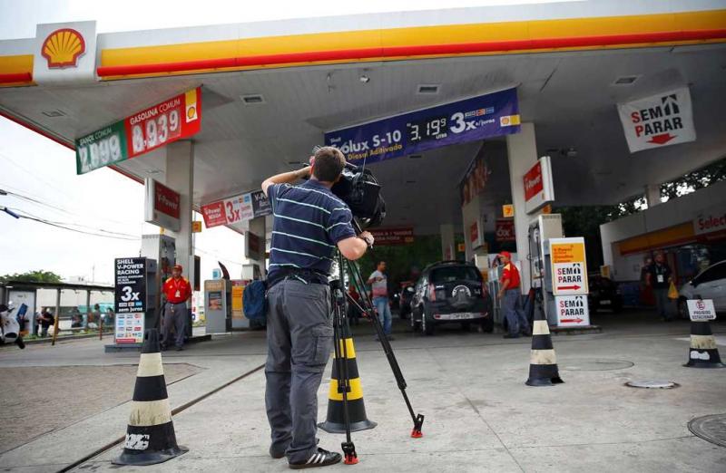 La gasolinera donde ocurrió el incidente protagonizado por los nadadores estadounidenses.
