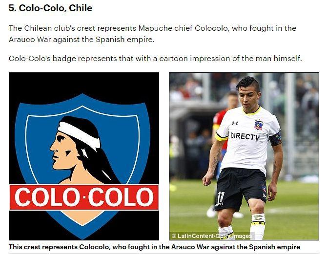 Medio británico destaca insignia de Colo Colo entre las más bellas del mundo